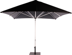 Umbrella Aluminium - Black - 3m Sq